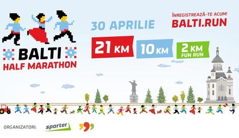 """Не пропустите первый полумарафон в Бэлць """"Balti Half Marathon"""""""