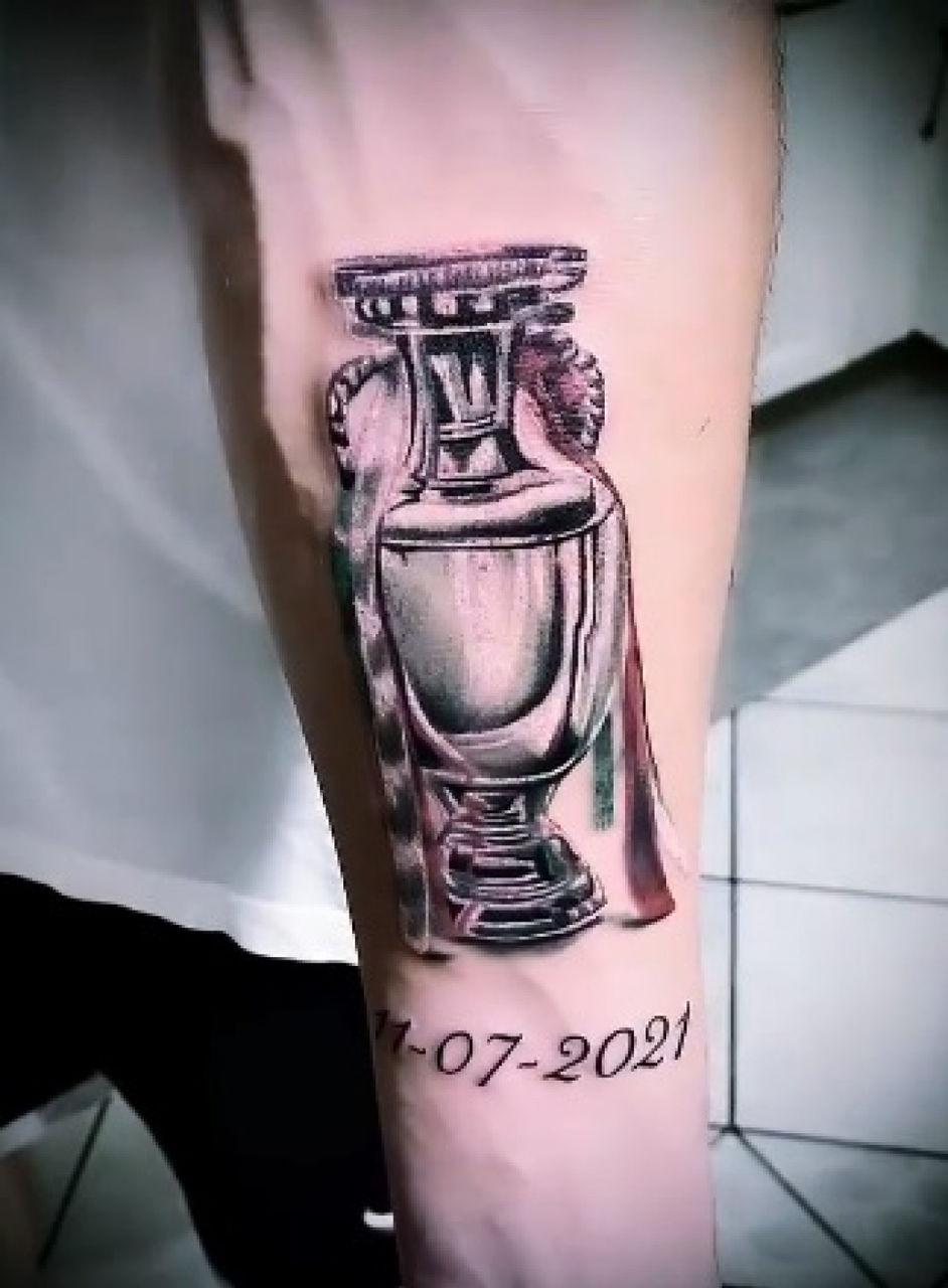 Angel Di Maria şi-a tatuat pe piciorul stâng Copa America