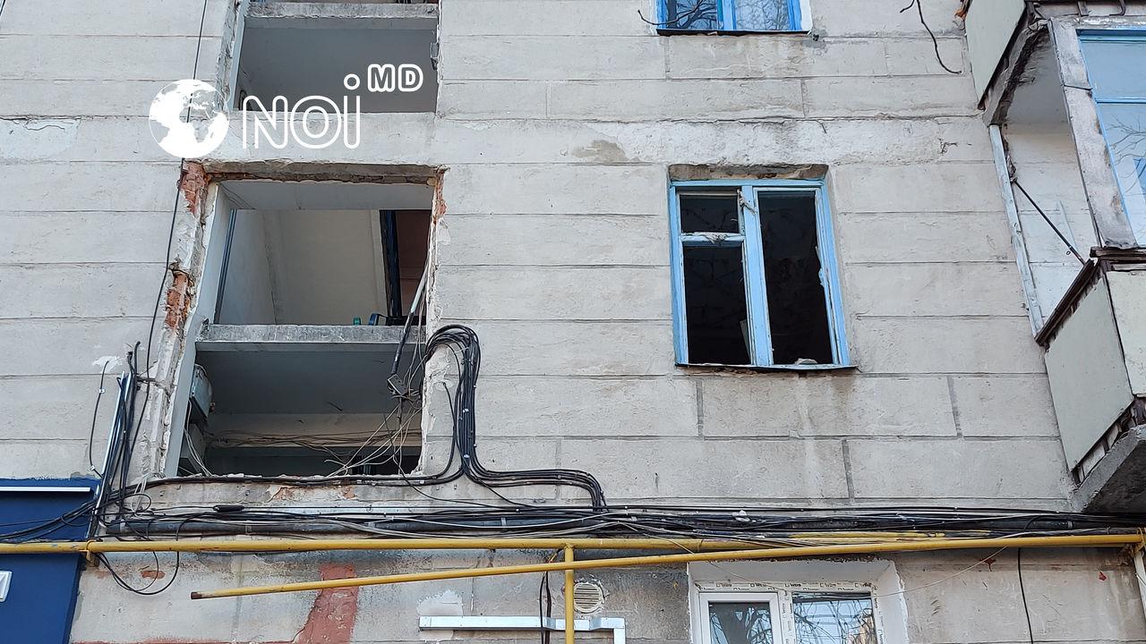 Filmul dezastrului: Cum arată blocul din sectorul Botanica după explozie