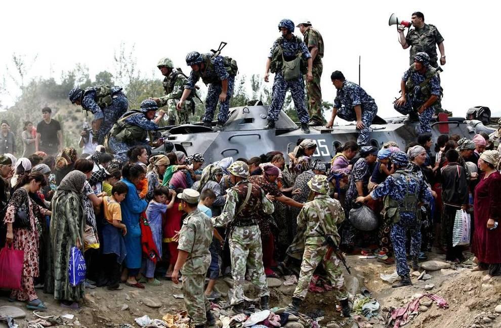 службой узбекское киргизское война граница Мира