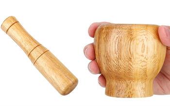 купить Ступка с пестиком для специй (дерево) в Кишинёве