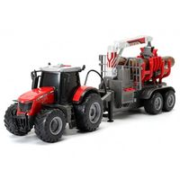 Dickie Tractor forestier cu lumini și sunet Massey, 42 cm