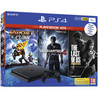 Sony Playstation 4 Slim 1TB + 3 Games (Rachet&Clank + Uncharted 4 + Last of Us)