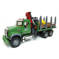 Camion Cherestea MACK cu macara portabilă și bușteni, cod 43252