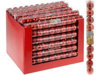 Набор шаров 10X40mm, красные (мат/глянц), в тубе