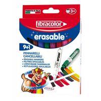 Carioci Fibracolor Erasable 9+1 culori