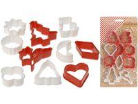 купить Формы для печенья рождественские Cucina 10 шт, пластик в Кишинёве