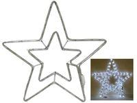 """Световая фигура """"Звезда"""" 69LED, 54cm, белый цвет"""