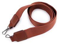 Curea textilă cu carabine pentru geantă / Maro