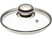 Крышка стеклянная 16сm с металлич кольцом