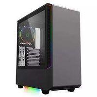 Carcasă ATX GAMEMAX VEGA, fără alimentator, ventilator RGB 1x120mm, bandă LED RGB, controler PWM, TG, USB3.0, negru