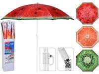 """Зонт солнцезащитный """"Фрукты"""" D176cm 8 спиц, со сгибом, 3 цве"""