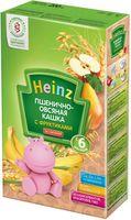 Heinz каша пшеничнo-овсяная безмолочная с фруктами, 6+мес. 200г