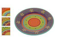 Тарелка керамическая 27cm, с разноцветным узором