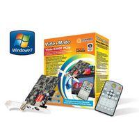 Tuner COMPRO VideoMate E300F Analog TV/FM/Capture card, CX23885, Stereo, MPEG-1/2/4, PIP/POP, TimeShift, PCI-Ex, w/Remote Control