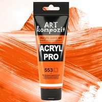 Акриловая флуоресцентная краска ART kompozit, 75 мл №553 Оранжевый флуоресцентный