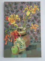 Осенние цветы, 60x40 см, холст, масло