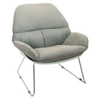 Мягкий пластиковый стул 805x695x865 мм, белое с серым