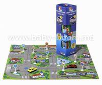 """Molto 13663 Игровой коврик """"Город"""" с машинками 62х62 см."""