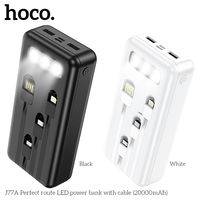 Внешний аккумулятор Hoco J77A Perfect route LED power bank with cable(20000mAh)
