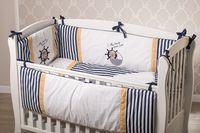 """Dormi Baby  Комплект постельного белья """"Мишка моряк"""" синий  (6 единиц)"""