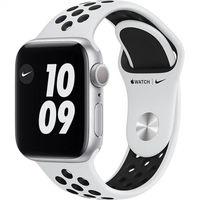 Apple Watch Series 6 GPS, 44mm Aluminium Case with Pure Platinum/Black Nike Sport