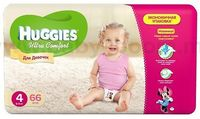 Huggies Ultra Comfort Mega Girl 4 (8-14 кг.) 66 шт.