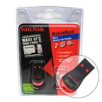 SANDISK Micro SDHC and Micro M2 card reader, Micro SD to SD Adapter and Lanyard