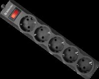 Prelungitor cu protectie Defender ES black 1.8m 5 sockets