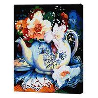 Buchetul din ceainic, 40х50 cm, pictură pe numere GX38171