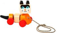 Cubika Деревянная игрушка каталка Котик