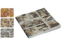 Салфетки рождественские бумажные 12шт, 40X40сm