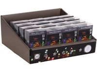 Огни новогодние Звезды 20 microLED, 1m, 2XAA, разноцвет