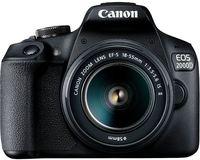 Фотоаппарат зеркальный Canon EOS 2000D Bk & EF-S 18-55 IS II