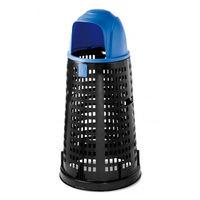 купить Мусорный контейнер Bobby 100 л, черный с синей крышкой в Кишинёве
