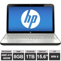 "Ноутбук HP Pavilion G6 (15,6"" AMD A10 4600M Radeon HDGraphics 8GB 1TB Win8)White"