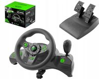 Wheel Esperanza NITRO EGW102, Vibration Force, 12 action buttons, Direction trigger, Digital paddles, Rotation 270 degrees, for PC/PSX/PS2/PS3, USB,  Black