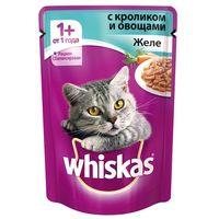 Whiskas желе (кролик с овощами) 85гр