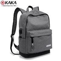 """Городской рюкзак Kaka 2199-1 для ноутбука 15"""", с USB-портом, серый"""