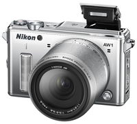 Фотоаппарат цифровой со сменной оптикой Nikon 1 AW1 + 1 Nikkor AW 11-27.5mm Silver