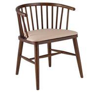 Деревянный стул с серым мягким сиденьем, 560x540x730 мм