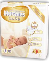 Huggies Elite Soft 2 (4-7 кг.) 88 шт.