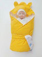 Конвертик 80*80 см Желтый горошек
