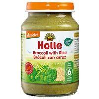 Piure de broccoli și orez Holle (4 luni+), 190g