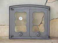 Дверца чугунная со стеклом двустворчатая с термометром Halmat - BATUMI IV