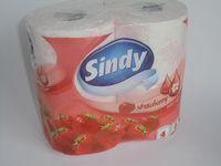 SINDY Туалетная бумага 4рулона 15.6м 3слоя 9,8х12 130листов
