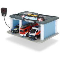 Dickie Спасательный центр с 3 машинками, свет и звук, микрофон