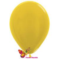 cumpără Balon de latex,  galben nacru - 30 cm în Chișinău