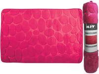 Covoras pentru baie 40X60cm Pebble roz, microfibra