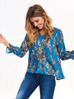 Блуза TOP SECRET Синий в цветочек sbd1017